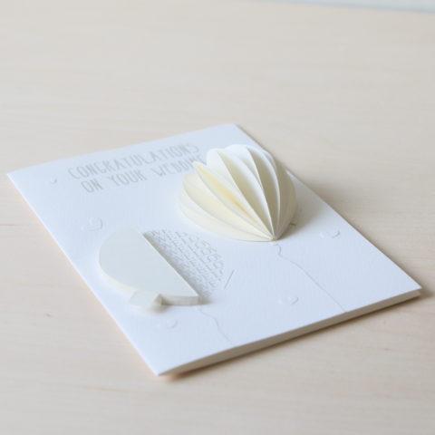 Biglietto matrimonio con palloncino